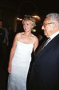 tina Brown and Henry Kissinger.<br />Talk magazine launch. New York. 2 September 1999.<br />© Copyright Photograph by Dafydd Jones<br />66 Stockwell Park Rd. London SW9 0DA<br />Tel 0171 733 0108