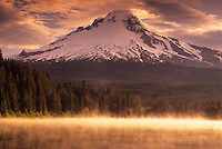 Mount Hood and Trillium Lake.  Mount Hood National Forest, Oregon.