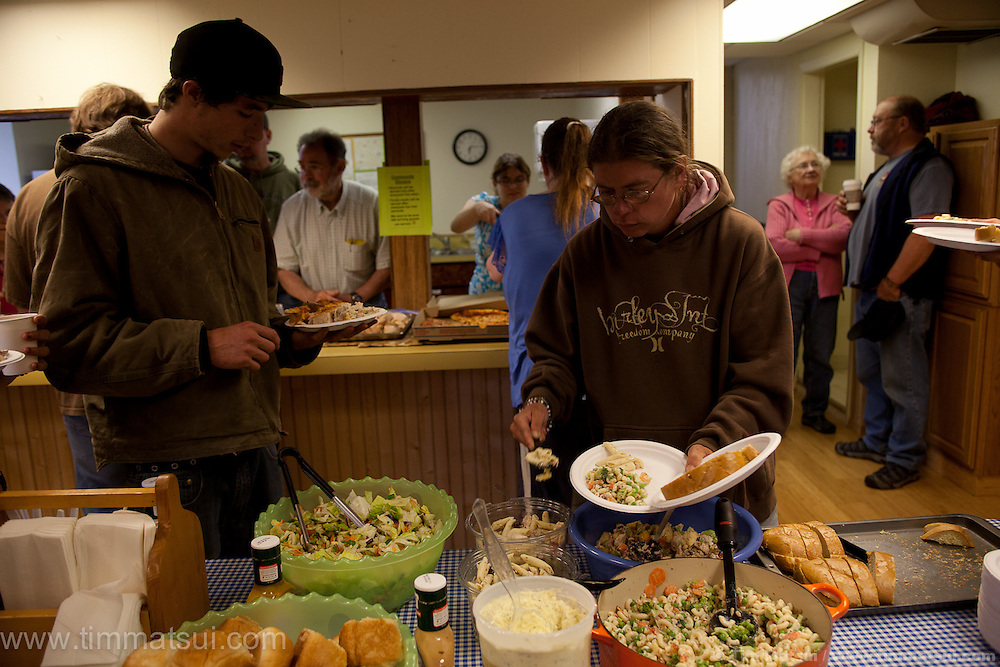 Evening meal and child care at Take the Next Step in Monroe, Washington.