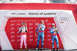 16.03.2017, Aspen, USA, FIS Weltcup Ski Alpin, Finale 2017, SuperG, Herren, Siegerehrung, im Bild Hannes Reichelt (AUT) // Hannes Reichelt of Austria during the winner award ceremony for the men's Super-G of 2017 FIS ski alpine world cup finals. Aspen, United Staates on 2017/03/16. EXPA Pictures © 2017, PhotoCredit: EXPA/ Erich Spiess