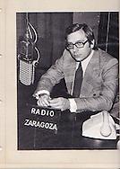 Periodista y locutor de Radio Zaragoza, Enrique Calvo, uno de los grandes profesionales de los medios de comunicación que ha dado la región de Aragón.