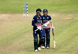 Katherine Brunt of England Women and Jenny Gunn of England Women - Mandatory by-line: Robbie Stephenson/JMP - 09/07/2017 - CRICKET - Bristol County Ground - Bristol, United Kingdom - England v Australia - ICC Women's World Cup match 19