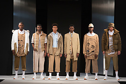 """© Licensed to London News Pictures. 02/06/2015. London, UK. Collection by Ruth Peterson, Kingston University. Runway show """"Best of Graduate Fashion Week 2015"""". Graduate Fashion Week takes place from 30 May to 2 June 2015 at the Old Truman Brewery, Brick Lane. Photo credit : Bettina Strenske/LNP"""