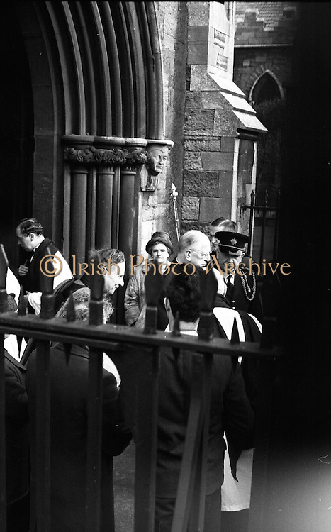 The State Funeral of Sir Alfred Chester Beatty. President Eamon de Valera after the funeral.<br /> 29.01.1968