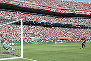 Manchester United Forward Anthony Martial shoots his penalty kick over the bar during the AON Tour 2017 match between Real Madrid and Manchester United at the Levi's Stadium, Santa Clara, USA on 23 July 2017.