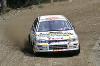 Mobil 1/RAC British Rally Championship 1997. RSAC Scottish Rally. David Higgins / Chris Wood. Subaru Impreza. World Copyright: Peter Taylor/PSP. Copy of publication required for printed pictures. Every used picture is fee-liable..