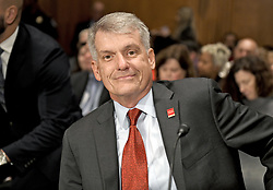 """October 3, 2017 - Washington, District of Columbia, United States of America - Timothy J. Sloan, Chief Executive Officer and President, Wells Fargo & Company, prior to giving testimony before the United States Senate Committee on Banking, Housing, and Urban Affairs as they conduct a hearing entitled, """"Wells Fargo: One Year Later'' on Capitol Hill in Washington, DC on Tuesday, October 3, 2017. .Credit: Ron Sachs / CNP (Credit Image: © Ron Sachs/CNP via ZUMA Wire)"""