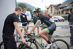 Willeke Knol prepares La Course 2017 - a 67.5 km road race, from Briancon to Izoard on July 20, 2017, in Hautes-Alpes, France. (Photo by Sean Robinson/Velofocus.com)