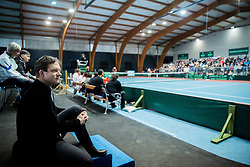 Bostjan Kreutz during Day 3 of the tennis matches between Slovenia and Monaco of 2017 Davis Cup Europe/Africa Zone Group II, on February 5, 2017 in Tennis Arena Tabor, Maribor Slovenia. Photo by Vid Ponikvar / Sportida