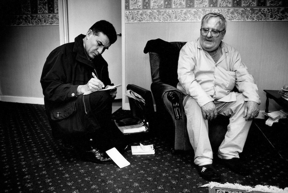 GP visiting patient at home. Liverpool, 1999. England