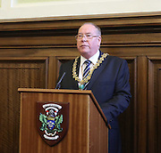 Lord Provost Bob Duncan congratulates Dundee - Dundee FC civic reception at Dundee City Chambers<br /> <br />  - &copy; David Young - www.davidyoungphoto.co.uk - email: davidyoungphoto@gmail.com
