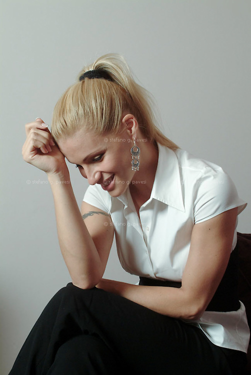 The actress and tv host Michelle Hunziker
