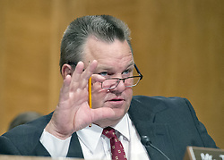 "October 3, 2017 - Washington, District of Columbia, United States of America - United States Senator Jon Tester (Democrat of Montana) questions Timothy J. Sloan, Chief Executive Officer and President, Wells Fargo & Company, as he testifies before the US Senate Committee on Banking, Housing, and Urban Affairs as they conduct a hearing entitled, ""Wells Fargo: One Year Later'' on Capitol Hill in Washington, DC on Tuesday, October 3, 2017. .Credit: Ron Sachs / CNP (Credit Image: © Ron Sachs/CNP via ZUMA Wire)"