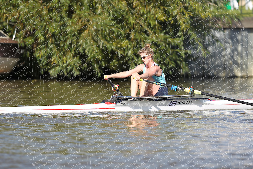 29.09.2012. Wallingford Long Distance Sculls 2012, The River Thames. Division 1. W.J17A 1x. Kings School Ely Boat Club.