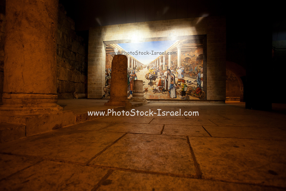 Israel, Jerusalem old city, Interior of the reconstructed Cardo in the Jewish quarters