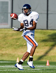 Virginia wide receiver Jared Green (84).  The Virginia Cavaliers football team during an open practice on August 16, 2008 at the University of Virginia's football turf field in Charlottesville, VA.
