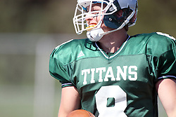 08 September 2012:  Tate Musselman during an NCAA division 3 football game between the Alma Scots and the Illinois Wesleyan Titans which the Titans won 53 - 7 in Tucci Stadium on Wilder Field, Bloomington IL