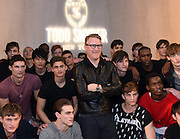 Designer Todd Snyder poses with models before the Todd Snyder Fall 2016 show, where he introduced the Timex x Todd Snyder partnership and debuted the Timex Waterbury Red Wing watch, during New York Fashion Week: Men's, Thursday, Feb. 4, 2016.  (Diane Bondareff/AP Images for Timex)