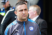 Chesterfield manager Jack Lester  before the EFL Sky Bet League 2 match between Chesterfield and Mansfield Town at the Proact stadium, Chesterfield, England on 14 April 2018. Picture by Nigel Cole.