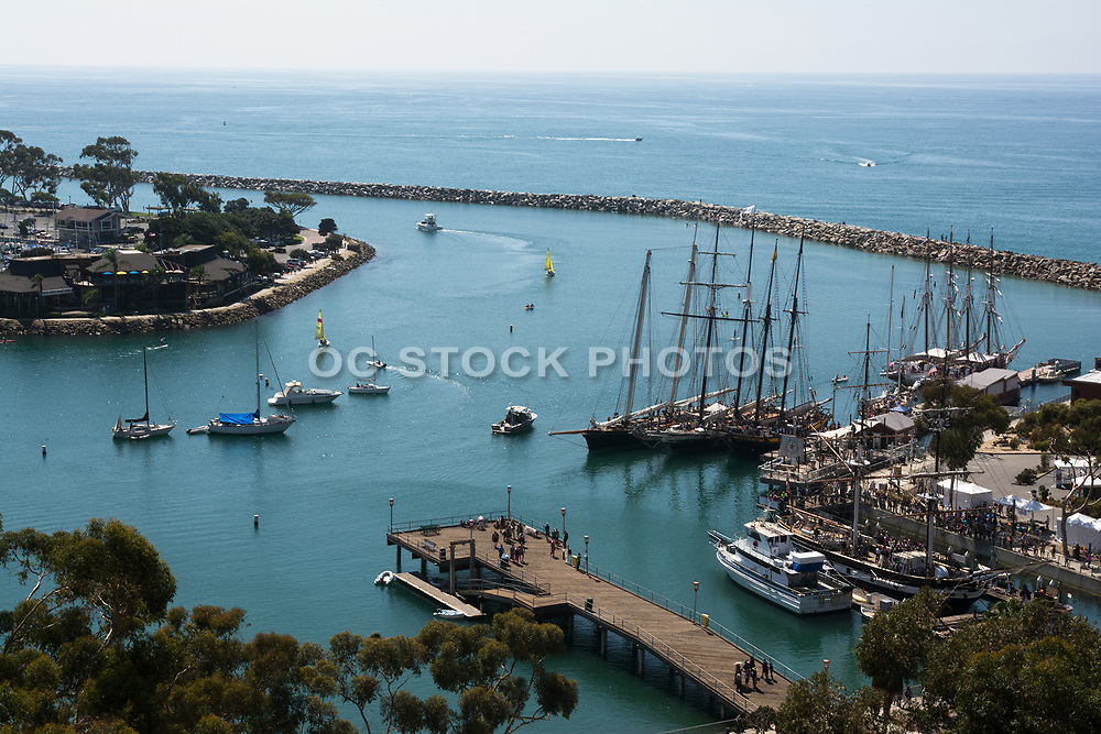 A High View of Dana Cove at Dana Point Harbor