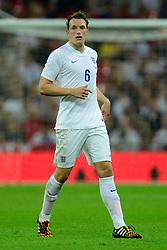 England's Phil Jones (Manchester United) - Photo mandatory by-line: Joe Meredith/JMP - Mobile: 07966 386802 - 3/09/14 - SPORT - FOOTBALL - London - Wembley Stadium - England v Norway - International Friendly