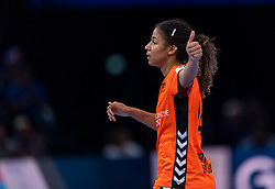 16-12-2018 FRA: Women European Handball Championships bronze medal match, Paris<br /> Romania - Netherlands 20-24, Netherlands takes the bronze medal / Delaila Amega #14 of Netherlands
