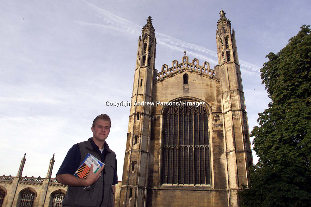 David Bell is from North Wales, he went to a local comprehensive school, Prestatyn High. David is now studying economics at Gonville and Caius, Cambridge, October 15, 2000..Photo by Andrew Parsons/i-Images..