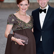 NLD/Apeldoorn/20070901 - Viering 40ste verjaardag Prins Willem Alexander, aankomst Pieter-Christiaan en Anita, zwangere Aimee en Floris