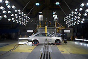 The 2011 Chevrolet Cruze fuel-efficient sedan undergoes crash testing Friday, April 16, 2010 in Milford, Michigan. The new Cruze offers class-leading fuel economy, the spaciousness and amenities of a midsize car, and more safety features than other vehicles in it class. (Photo by Jeffrey Sauger)