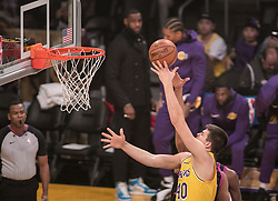 January 24, 2019 - Los Angeles, California, U.S - Ivica Zubac #40 of the Los Angeles Lakers puts up a layup during their NBA game with the Minneapolis Timberwolves on Thursday January 24, 2019 at the Staples Center in Los Angeles, California. Lakers lose to Timberwolves, 105-120. (Credit Image: © Prensa Internacional via ZUMA Wire)