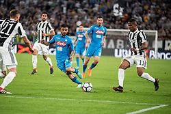 April 22, 2018 - Turin, Piedmont/Turin, Italy - Insigne Lorenzo durig the Serie A match Juventus FC vs Napoli. Napoli won 0-1 at Allianz Stadium, in Turin, Italy 22nd april 2018 (Credit Image: © Alberto Gandolfo/Pacific Press via ZUMA Wire)