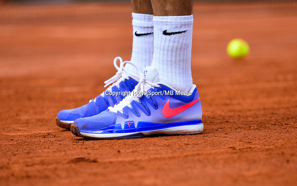 Illustration chaussures Roger FEDERER - 02.06.2015 - Jour 10 - Roland Garros 2015<br /> Photo : David Winter / Icon Sport