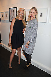 Left to right, TAMARA BECKWITH and NADYA ABELA at a Private View of Bruno Bisang 30 Years of Polaroids held at The Little Black Gallery, 13A Park Walk, London SW10 on 15th January 2013.