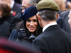 The Duchess of Sussex at The Opening of The Field of Remembrance, Westminster Abbey, London . Photo credit should read: Doug Peters/EMPICS