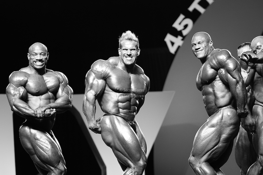 Posedown at the 2010 Mr. Olympia finals in Las Vegas.