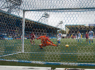 23rd September 2017, Rugby Park, Kilmarnock, Scotland; SPFL Premiership football, Kilmarnock versus Dundee; Dundee's Faissal El Bakhtaoui (left) scores to put Dundee 1-0 ahead