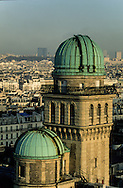 France. Paris. elevated view. The Sorbonne astronomic observatory  and the latin quarter , view from the Sorbonne church