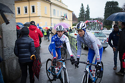 FDJ Nouvelle Aquitaine Futuroscope Team riders roll to the start before the Trofeo Alfredo Binda - a 131,1 km road race, between Taino and Cittiglio on March 18, 2018, in Varese, Italy. (Photo by Balint Hamvas/Velofocus.com)