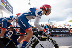 Lotta Lepistö (Cervélo Bigla) at the 42,5 km team time trial of the UCI Women's World Tour's 2016 Crescent Vårgårda Team Time Trial on August 19, 2016 in Vårgårda, Sweden. (Photo by Sean Robinson/Velofocus)
