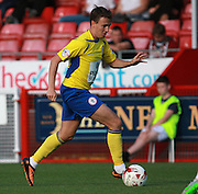 Accrington Stanley midfielder Sean McConville during the Sky Bet League 2 match between Crawley Town and Accrington Stanley at the Checkatrade.com Stadium, Crawley, England on 26 September 2015. Photo by Bennett Dean.