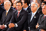 Belo Horizonte_MG, Brasil...Inauguracao da Cidade Administrativa Presidente Tancredo Neves em Belo Horizonte, Minas Gerais. Na foto  Jose Alencar, Aecio Neves, Itamar Franco e Michel Temer...Inauguration of the City Administrative President Tancredo Neves Belo Horizonte, Minas Gerais. In the photo Jose Alencar, Aecio Neves, Itamar Franco and Michel Temer...Foto: LEO DRUMOND / NITRO
