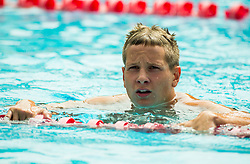 Jost Suhadolc of PK Ilirija Ljubljana competes in 4x100m Medley during Slovenian Swimming National Championship 2014, on August 3, 2014 in Ravne na Koroskem, Slovenia. Photo by Vid Ponikvar / Sportida.com