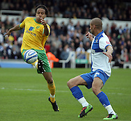 Bristol - Saturday May 1st, 2010: Carl Regan (R) of Bristol Rovers in action against Oli Johnson of Norwich City during the Coca Cola League One match at The Memorial Stadium, Bristol. (Pic by Mark Chapman/Focus Images)..