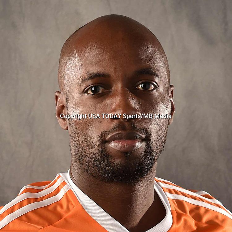 Feb 25, 2016; USA; Houston Dynamo player Damarcus Beasley poses for a photo. Mandatory Credit: USA TODAY Sports