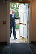 President Nellis enters Cutler Hall on his first day of work as Ohio University's 21 President.