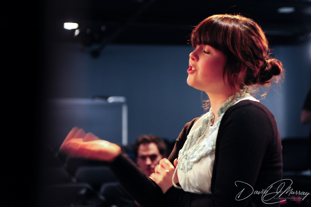 A student from Cocheco Arts and Technology Academy  in an Improv master class with comedians from The Second City at The Music Hall Loft in Portsmouth, NH