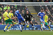 Picture by Paul Chesterton/Focus Images Ltd.  07904 640267.21/01/12.Ramires of Chelsea has a shot on goal during the Barclays Premier League match at Carrow Road Stadium, Norwich.