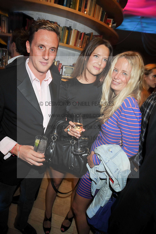 Left to right, HARRY BECHER, ARABELLA MUSGRAVE and ASTRID HARBORD at the St.Martins Lane Hotel 10th year bash held on 9th September 2009.