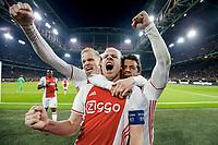 1:0 Jubel v.l. Donny van de Beek, Torschuetze Davy Klaassen, Amin Younes (Ajax)<br /> Amsterdam, 13.04.2017, Fussball Europa League, Viertelfinale Hinspiel, Ajax Amsterdam - FC Schalke 04 2:0<br /> Norway only