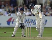 Photo Peter Spurrier.31/08/2002.Cheltenham & Gloucester Trophy Final - Lords.Somerset C.C vs YorkshireC.C..Somerset bowling Peter Bowler (blue helmet)